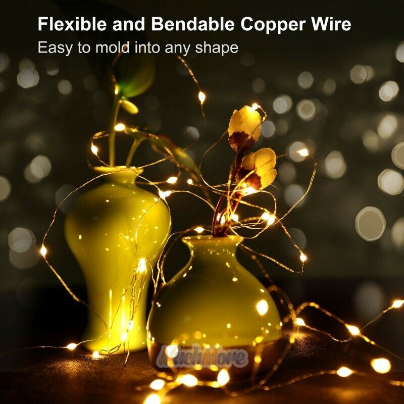 Warm White 10m 100 Led Copper Wire Led String Fairy Lights