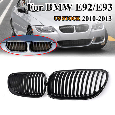 For 2011-2013 BMW E92 E93 LCI Coupe 320i 328i 335i Gloss Black Front Grille Kit