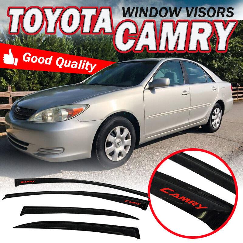 For Toyota Camry 02-06 In-Channel Ventvisor Smoke Front /& Rear Window Deflectors