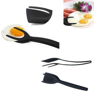 Pancake Egg Spatula Flip Tongs Turn Grab Cook Food with Ease-Egg Flipper H - Egg Tongs