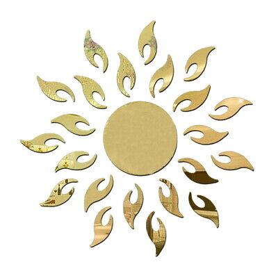 3D Mirror Sun Wall Sticker Art Removable Acrylic Mural Decal Home Room DIY - Sun Decorations