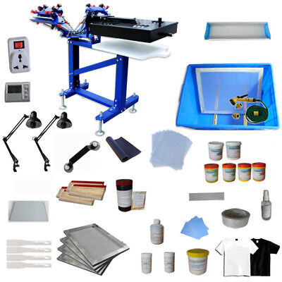 3 Color Screen Printing Machine With Diy Materials Kit Micro-adjust Equipment
