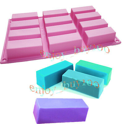 Nice Silicone Mold Cuboid 12-Cavity Muffine Soap CupCake Jelly Baking Mould  on Rummage