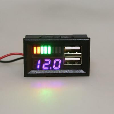 Led Digital Car Motorcycle Voltmeter Voltage Meter Volt Tester Panel Dc 12v Usb