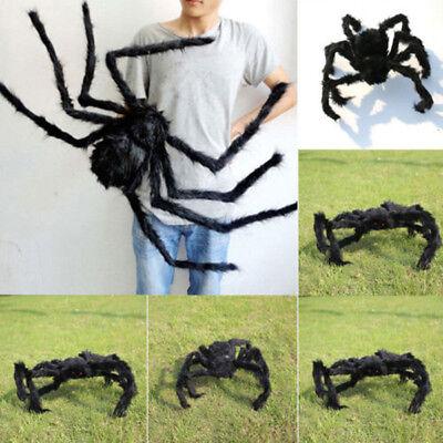 72cm Schwarz Halloween Plüschspinne Spinnen Deko Spukhaus Indoor Outdoor