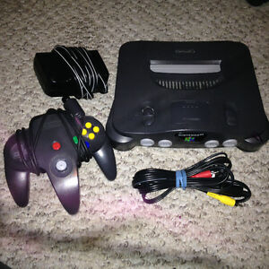 NINTENDO N64  with 1 Controller and 1 Game