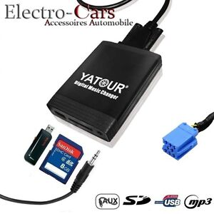 interface usb mp3 adaptateur cable autoradio compatible peugeot 307 sw. Black Bedroom Furniture Sets. Home Design Ideas