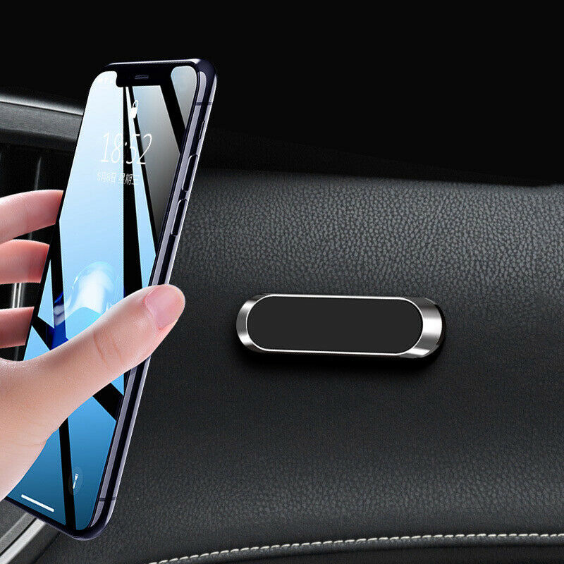 Car Parts - Strip Shape Magnetic Car Phone Holder Stand For iPhone Magnet Mount Parts Silver