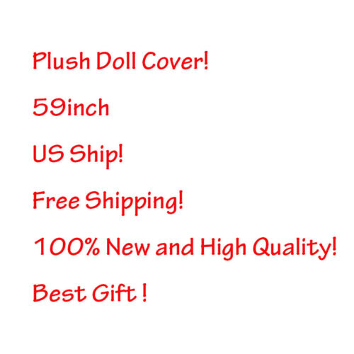 """USA 59""""Anime Plush Doll Toy Bed Zip Cover Case Xmas Birthday"""