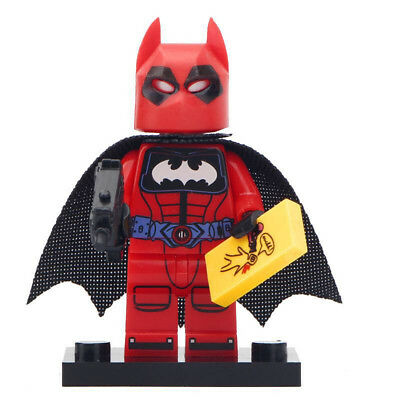 Batman Lego For Kids (Marvel Comics Red Suit Batman Lego Moc Minifigure Gift For)
