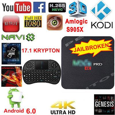 M XQ Pro 4K TV BOX Amlogic S905X KODI Quad-core17.1 1 Media Player+ 8GB Keyboard