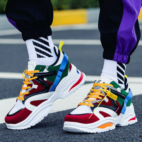 Men Breathable Mesh DorkyDadShoes Clunky Sneakers Outdoor Athletic Sport Shoes