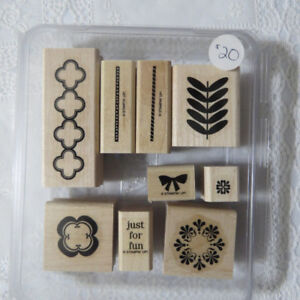 """""""Stampin' up""""  stamps...""""Just for fun"""""""