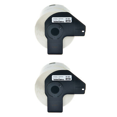 2pk 62mm Dk-1202 Shipping White Paper Label For Brother Dk1202 Ql-550 Ql-1050n