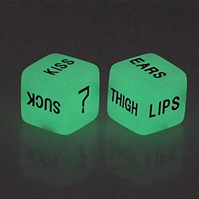 1 Sexy Love Dice Game Foreplay Bedroom Pairs Erotic Games Glow In The Dark