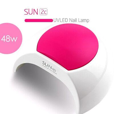 SUNUV Sun2c 48W UV LED Light Lamp Gel Nail Dryer w/ Timer Senor For Gel Nail RF