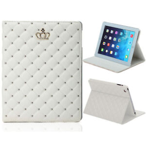 iPadAir / ipad5 Luxury Crown Leather Flip Stand Case Cover