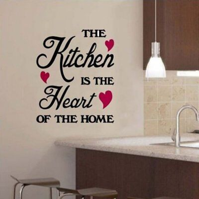 Removable Quote Word Vinyl DIY Kitchen Home Room Art Wall Stickers Decoration