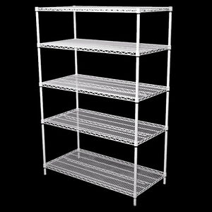 Wire Shelving Units - Powdercoated White - FREE DELIVERY