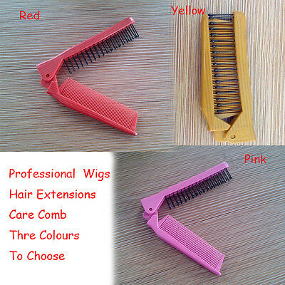 Women Folding Comb Hair Straightener For Wigs Care Brush Top 3 - Wig Brush