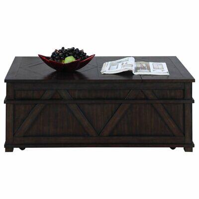 Progressive Foxcroft Storage Coffee Table Trunk in Dark Pine ()