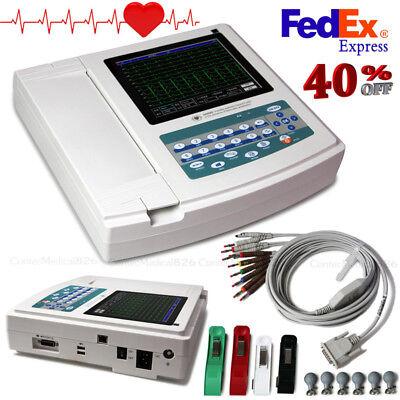 Usb Interpretation Touch 12 Channel Electrocardiograph Ecg Ekg Machinesoftware