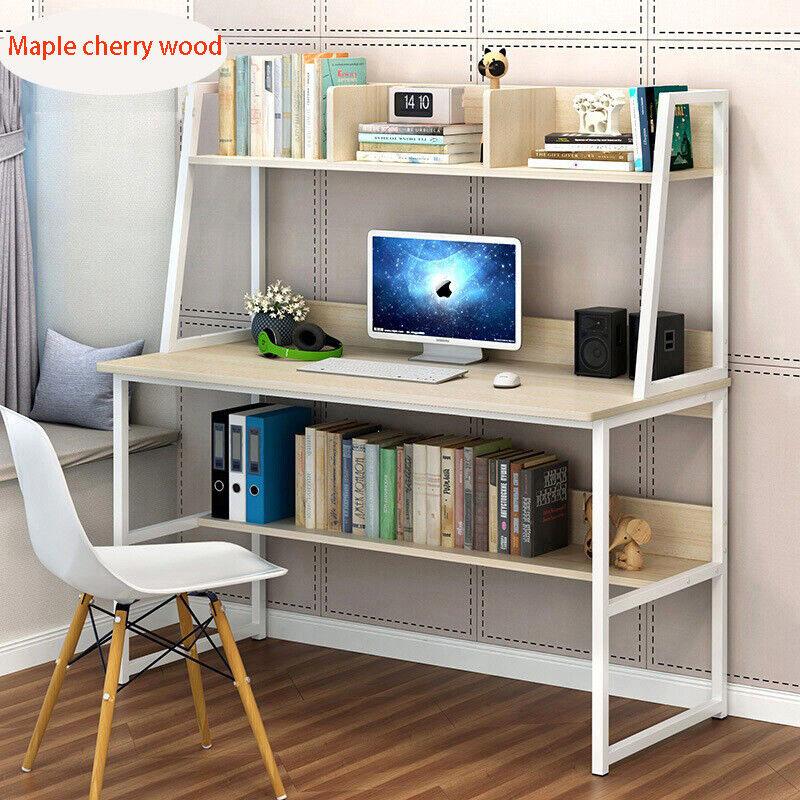 Computer Desk With Shelves Cupboard 3 Cube Bookshelf Storage
