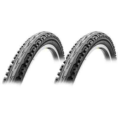"Sunlite Bicycle Kross Plus Goliath Mountain Bike 26"" x 1.95"" Black Tires PAIR"