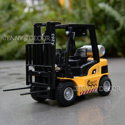 1:24 Diecast Metal Truck Model Toy Sound & Light Pull Back Forklift Replica