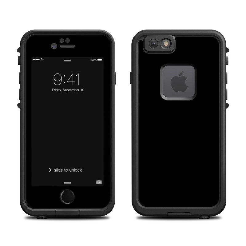 Skin for LifeProof FRE iPhone 6/6S - Solid Black - Sticker Decal
