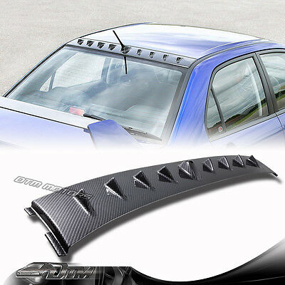 Carbon Fiber Style Shark Fin Rear Roof Spoiler For 02-07 Mitsubishi Lancer EVO