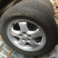 All season tires and aluminum rims