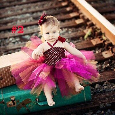 rene Baby Kostüm Tütü + Blumen Haarspange Foto Prinzessin (Neugeborene Prinzessin Kostüm)