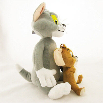 Cute Soft Tom and Jerry Plush Doll Cartoon Stuffed Animal Toy Anime Cat&Mouse J1