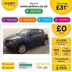 Nissan Juke 1.5dCi ( 110ps ) Acenta FROM £31 PER WEEK!