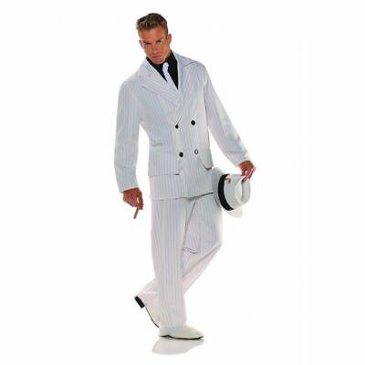 20's Smooth Criminal Gangster Costume Suit Mobster Adult Men Pin Stripes Std](Smooth Criminal Costume)