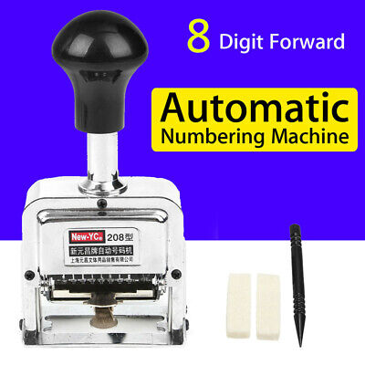 8 Position Automatic Numbering Machine Chapter Marking Machine Digital Stamp