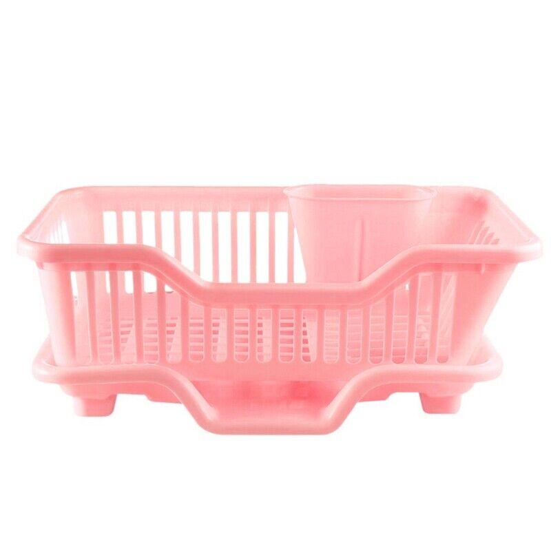 Environmental Plastic Kitchen Sink Dish Drainer Set Rack Washing Holder BasketO8