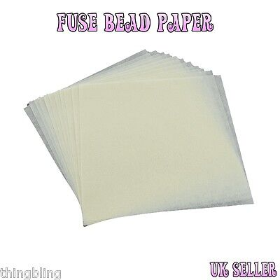 Fuse Bead Paper - 12 pcs per pack - 2 Sizes to choose from - UK Seller