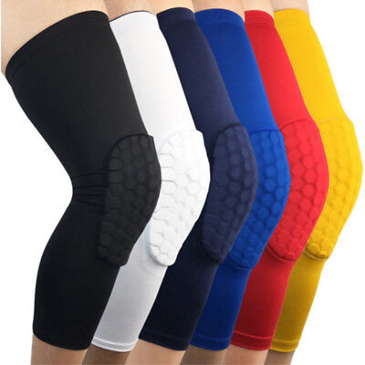 Honeycomb Knee Crashproof Antislip Basketball Leg Long Sleeve Hex Protector Gear