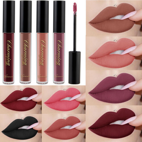 12 Color Women Waterproof Liquid Lipstick Matte Lip Gloss Lo