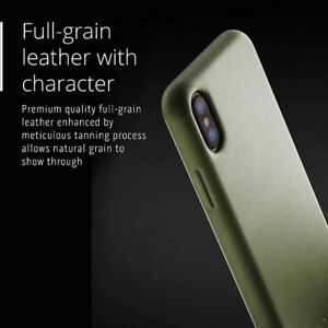 Mujjo Premium Leather Case compatible with iPhone XS, iPhone X