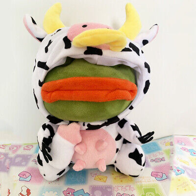 Pepe The Frog Sad Frog Plush Doll Cow Frog Stuffed Toy Year of the Ox limited