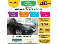 2015 BLUE LAND ROVER DISCOVERY SPORT 2.2 SD4 190 SE TECH CAR FINANCE FR £281 PCM