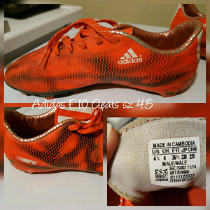 ADIDAS  F10 CLEATS  Sz 4.5