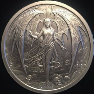 The Temptation of the Succubus 2016 2oz .999 silver