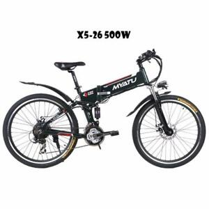 "Weekly Promotion!   26""  ALUMINUM ALLOY FOLDING   MOUNTAIN EBIKE, X5-26, 500W, BLACK    $1350(was $1550)"