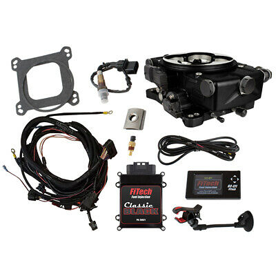 FiTech Fuel Injection System 30021; Go EFI Classic 550 HP TBI Black Anodized