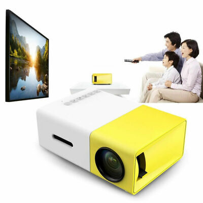 Mini Pocket LED Projector HD 1080P Home Theater Cinema Multimedia AV HDMI USB UK