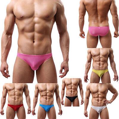 Mens Sexy Ultra-Thin Underwear Briefs Transparent Breathable Big Underwear Gift